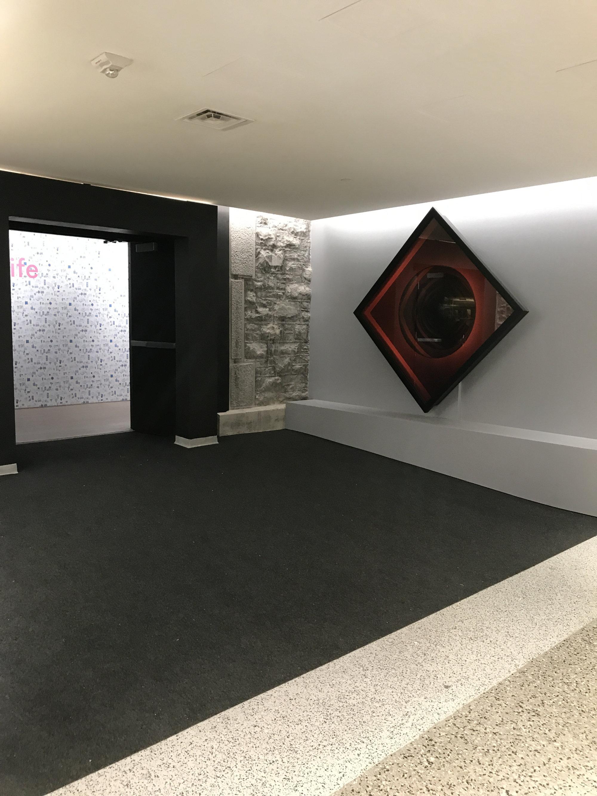 Convex Red - Installation in Arts Court